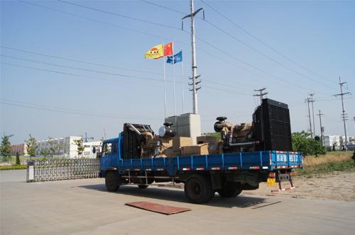 安徽酒店两台500KW康明斯并网机组成功出厂 发货现场 第2张