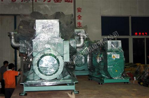 长沙机械4台大功率发电机组成功出厂 发货现场 第1张