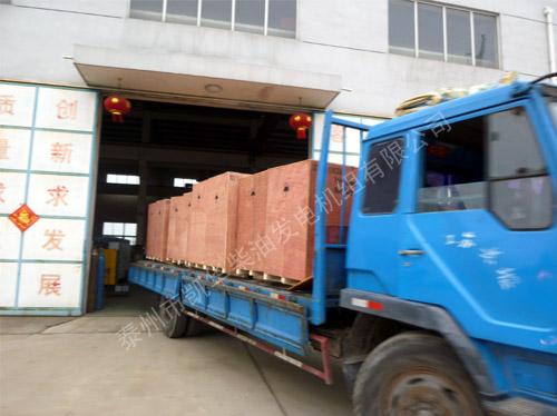 出口赞比亚的8台康明斯机组成功出厂 发货现场 第3张