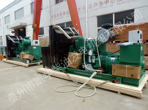 出口西班牙的两台500KW康明斯发电机组成功出厂 发货现场 第1张