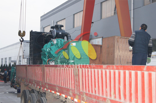 山东外企600KW全自动康明斯机组成功出厂 发货现场 第1张