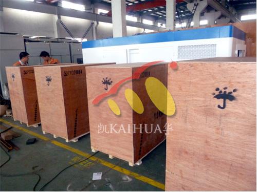 出口老挝的4台康明斯发电机组成功出厂 发货现场 第1张