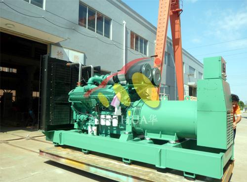 出口迪拜的800KW康明斯发电机组成功出厂