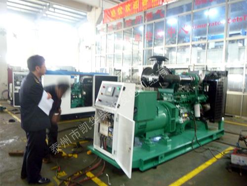 出口柬埔寨的多台康明斯机组成功通过商检局检验
