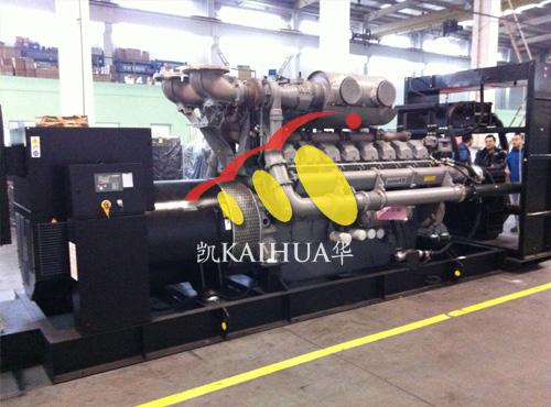 四川矿业2000KW珀金斯发电机组通过检测