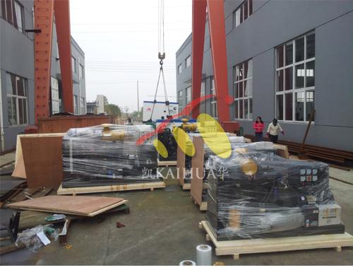 出口安哥拉的11台发电机组成功出厂 发货现场 第1张