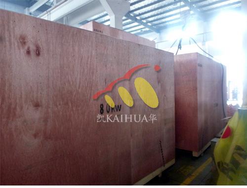 出口迪拜的三台康明斯发电机组成功出厂