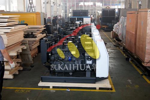 出口西班牙的10台潍柴发电机组成功出厂
