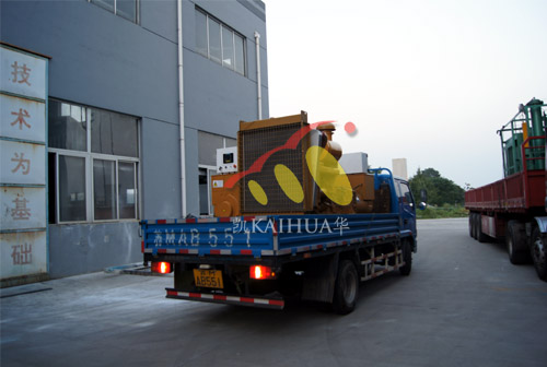南京房产两台250KW上柴柴油发电机组成功出厂 发货现场 第2张