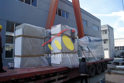 河南矿业1000KW高压康明斯发电机组成功出厂 发货现场 第2张