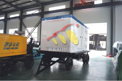 西藏市政500KW沃尔沃发电机组成功出厂