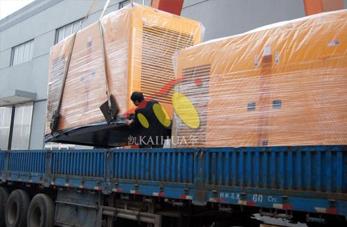 出口新加坡的3台500KW康明斯发电机组成功出厂 发货现场 第2张