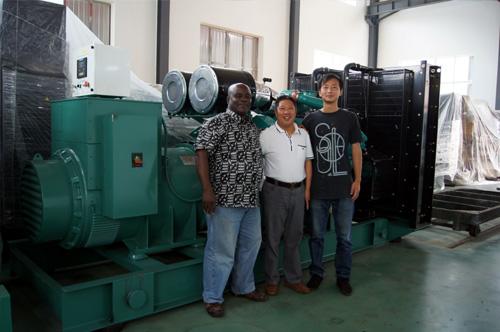 加纳客户来访我公司工厂签购多台发电机组 公司新闻 第2张