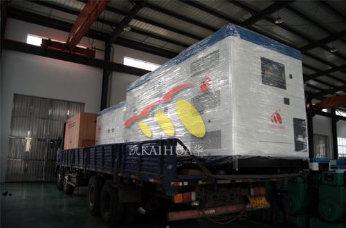 出口越南的16台柴油发电机组成功出厂