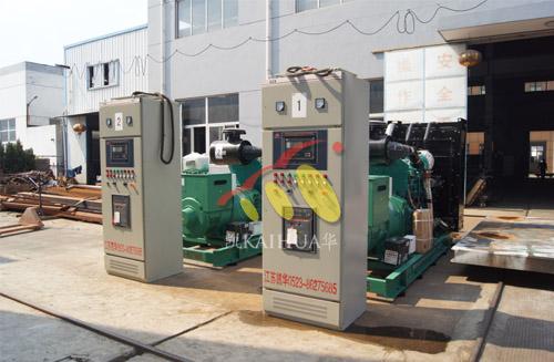 内蒙古电厂两台500KW康明斯发电机组成功出厂 发货现场 第1张