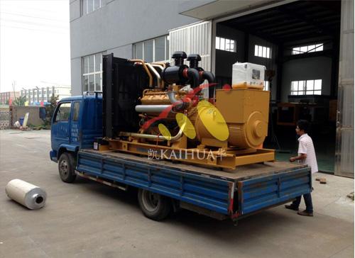 安徽房产500KW上柴柴油发电机组成功出厂 发货现场 第2张