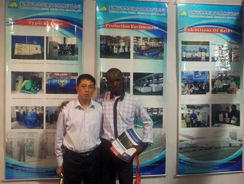非洲客户参观访问凯华2013年非洲动力展现场 公司新闻 第3张