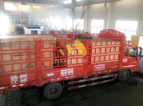 青海市政5台沃尔沃柴油发电机组成功出厂