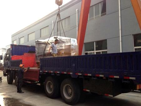 三台500KW上柴柴油发电机组发往浙江矿业 发货现场 第3张