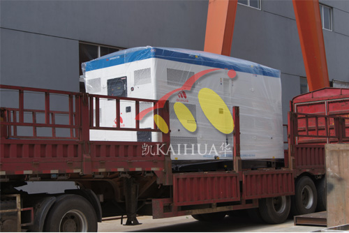 山东房产500KW静音发电机组成功出厂 发货现场 第2张