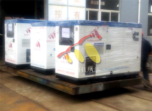 出口尼日利亚的13台静音柴油发电机组成功出厂