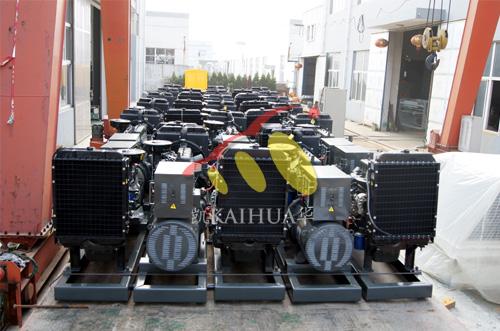 山东水利30台潍柴柴油发电机组成功出厂