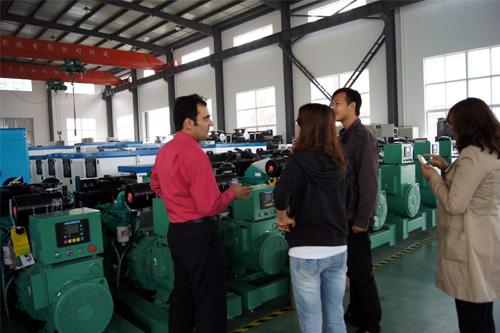 巴基斯坦客户来访我公司工厂验收发电机组 公司新闻 第1张