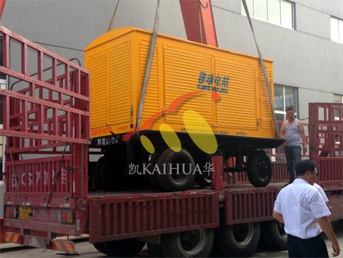 河南养殖500KW移动康明斯发电机组成功出厂 发货现场 第1张