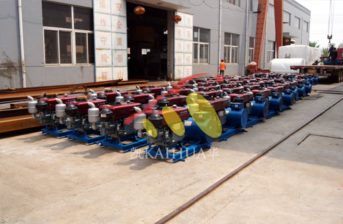 河南水利180台小型柴油发电机组成功出厂 发货现场 第2张