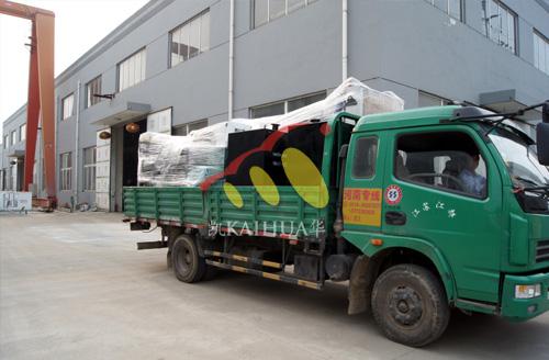 新疆油田两台沃尔沃发电机组成功出厂 发货现场 第2张