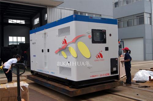 出口南非的两台沃尔沃柴油发电机组成功出厂 发货现场 第1张
