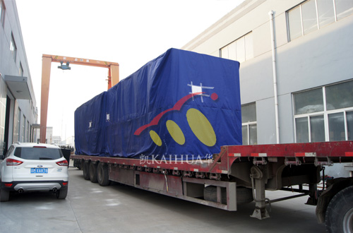 出口赤道几内亚的两台1000KW康明斯机组成功出厂 发货现场 第2张