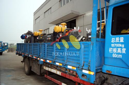安徽牧业9台小型柴油发电机组成功出厂 发货现场 第2张