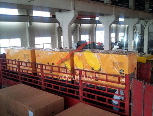 江苏水利三台150KW静音移动式发电机组成功出厂 发货现场 第2张