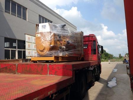 三台500KW上柴柴油发电机组发往浙江矿业 发货现场 第1张