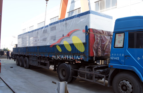 出口阿尔及利亚的3台400KW康明斯发电机组成功出厂 发货现场 第2张