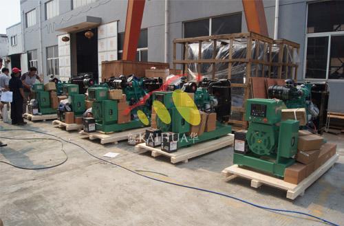 出口印尼的5台康明斯发电机组成功出厂 发货现场 第1张