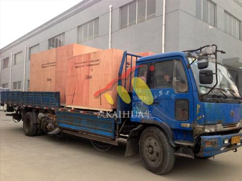出口埃塞俄比亚的四台康明斯发电机组成功出厂 发货现场 第2张