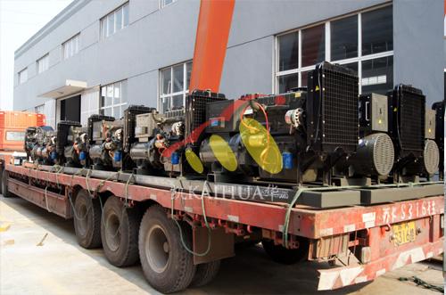 山东水利30台潍柴柴油发电机组成功出厂 发货现场 第2张