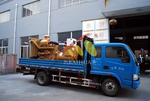 南京房产两台250KW上柴柴油发电机组成功出厂 发货现场 第1张