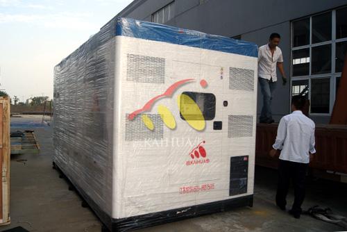 山东锯业500KW静音柴油发电机组成功出厂 发货现场 第1张