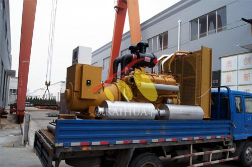 南京房产500KW上柴发电机组成功出厂 发货现场 第1张