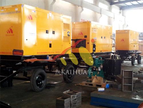 江苏水利三台150KW静音移动式发电机组成功出厂 发货现场 第1张