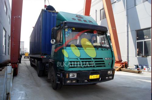 出口迪拜的四台静音柴油发电机组成功出厂 发货现场 第3张