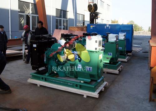 出口加纳的四台康明斯发电机组成功出厂