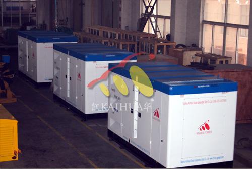 出口苏丹的3台300KW沃尔沃发电机组成功出厂 发货现场 第2张