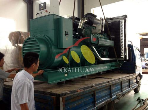 江苏仪表企业600KW无动发电机组成功出厂 发货现场 第1张