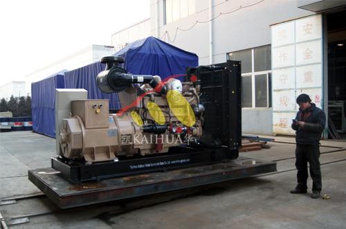 出口新加坡的一台300KW应急船用发电机组成功出厂 发货现场 第2张