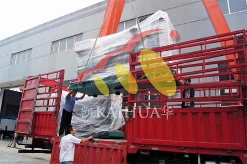 浙江商用汽车公司2台400KW沃尔沃并机机组今日成功出厂 发货现场 第2张