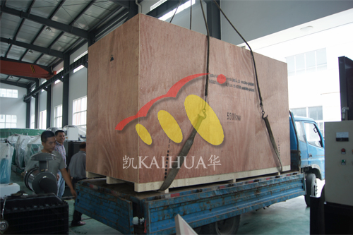 出口朝鲜1台500KW发电机组今日成功出厂 发货现场 第3张